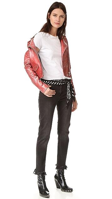 IRO Axelle Metallic Moto Jacket