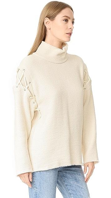 IRO Hye Lace Up Sweatshirt