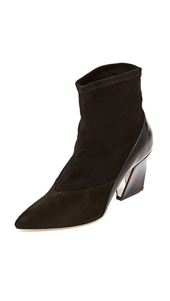 IRO Stenza Sock Booties - Black/Black