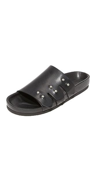 IRO Birki Leather Slides - Black