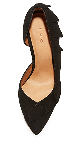 IRO Escavol Ruffle Pumps in Black
