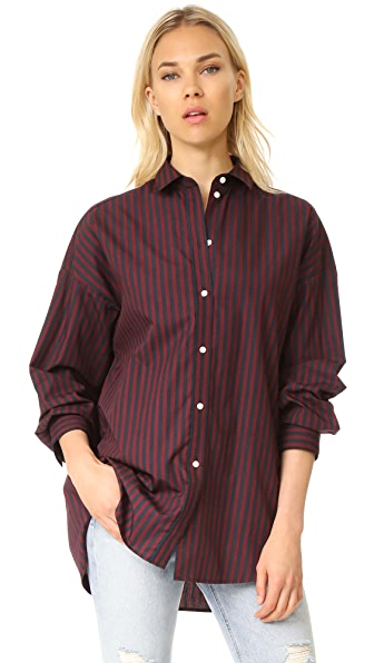 IRO Camille Shirt - Black/Burgundy