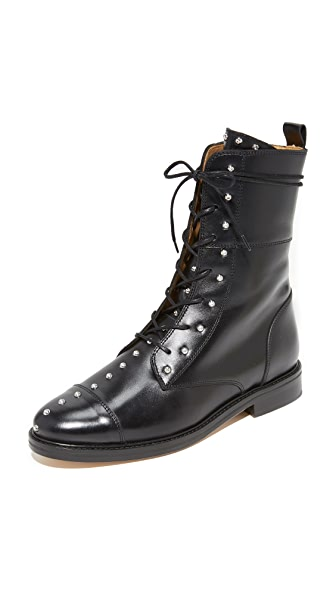 IRO Rangy Military Boots - Black