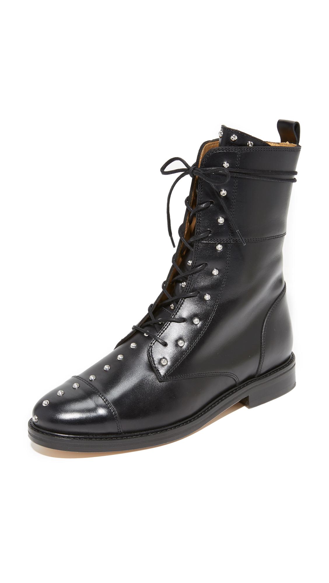 IRO Rangy Military Boots - Black