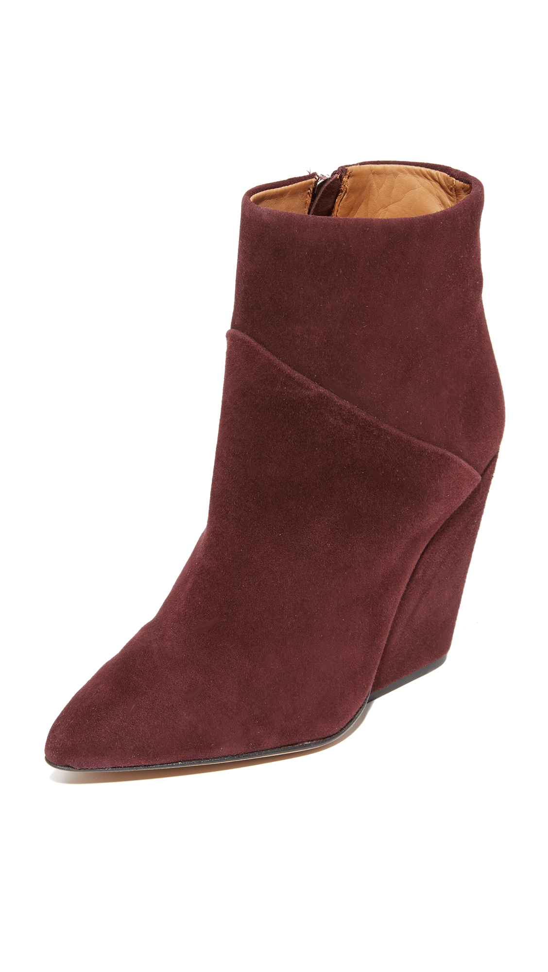 IRO Lasdia Booties - Burgundy