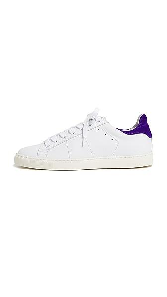 IRO Basic Sneakers In White/Purple