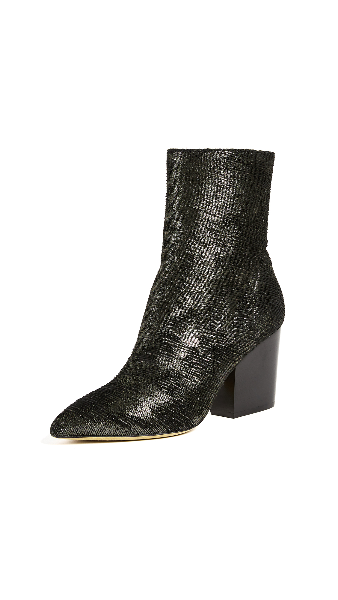 IRO Ladilor Booties - Black/Gold