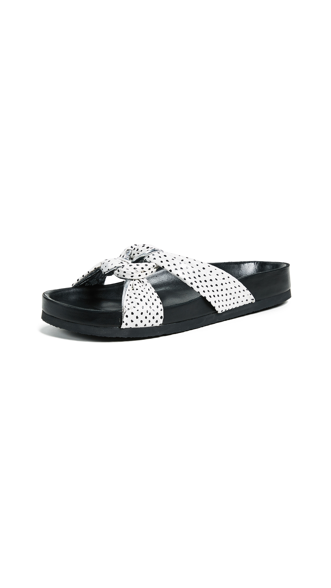 IRO Knoty Slides - Off White/Black