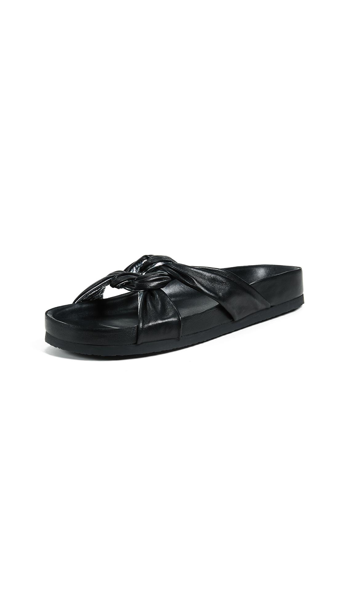 IRO Knoty Slides - Black/Silver
