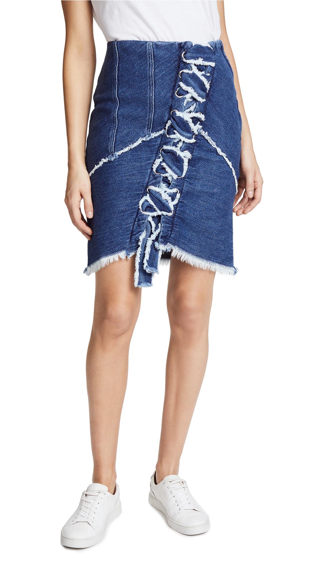 IRO Boston Denim Skirt In Blue