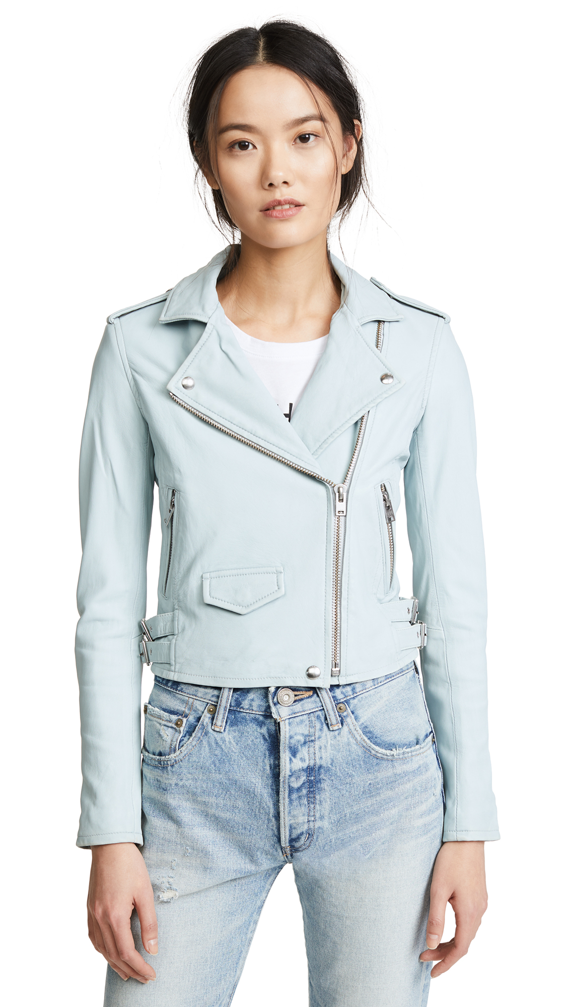 IRO Ashville Jacket In Bleached Blue