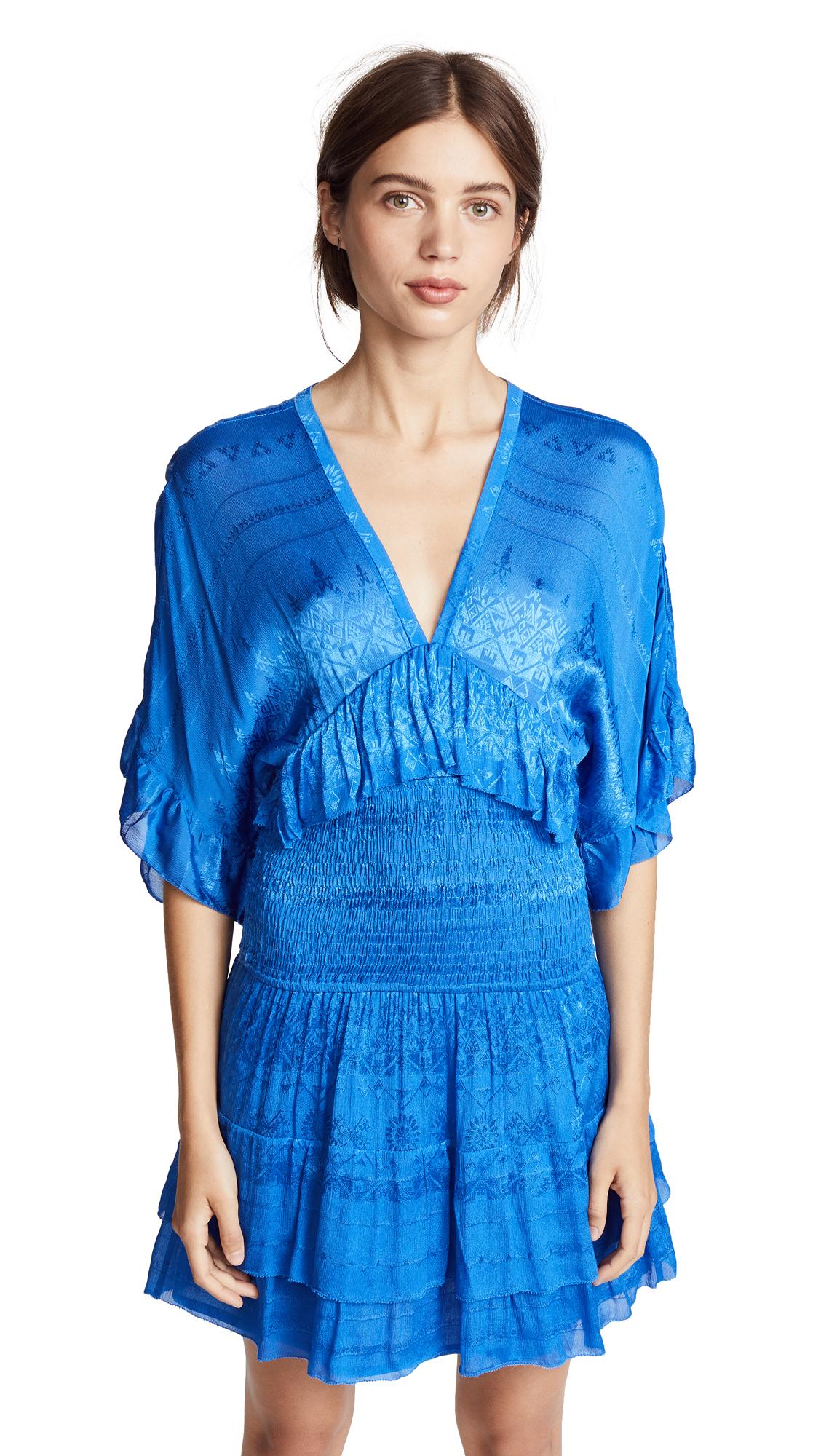 Stacy Smock Waist Dress, Blue Denim