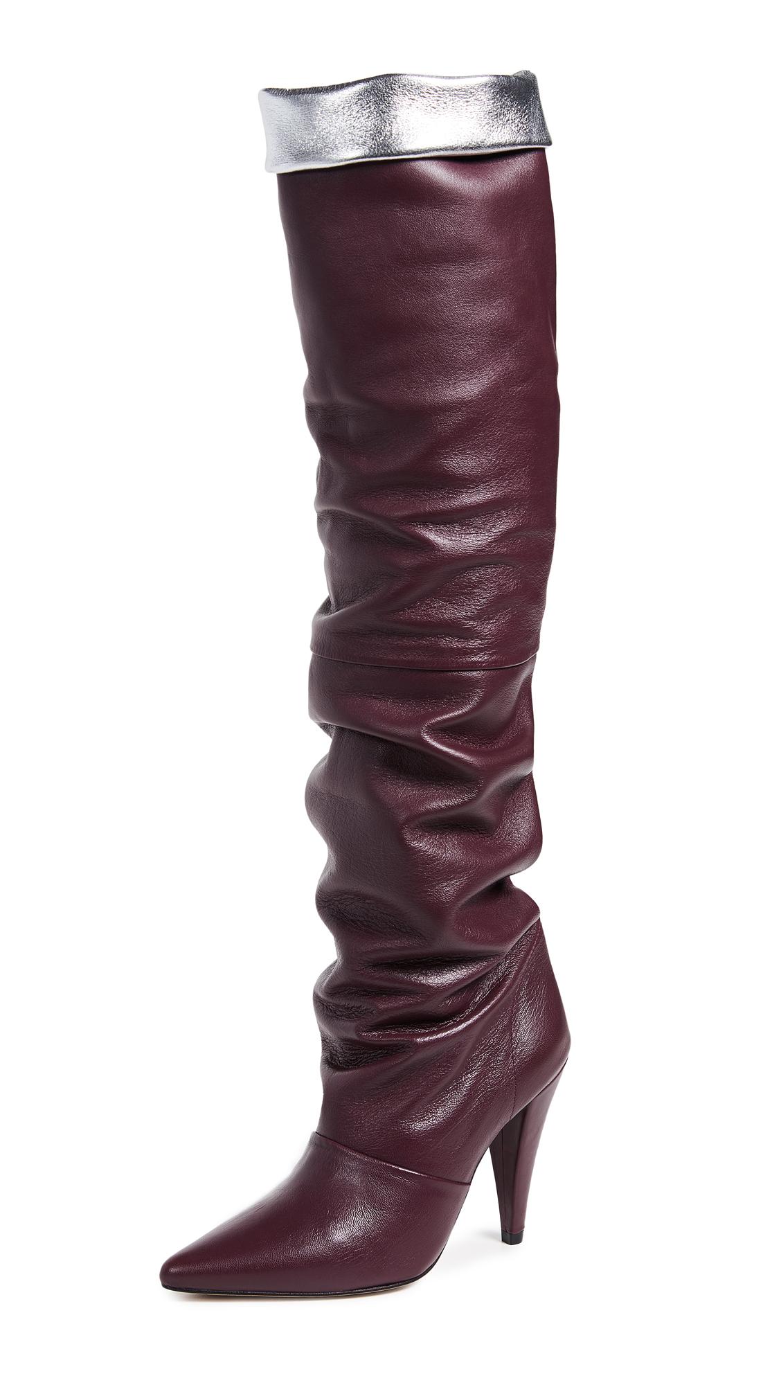 IRO Ava Boots - Burgundy