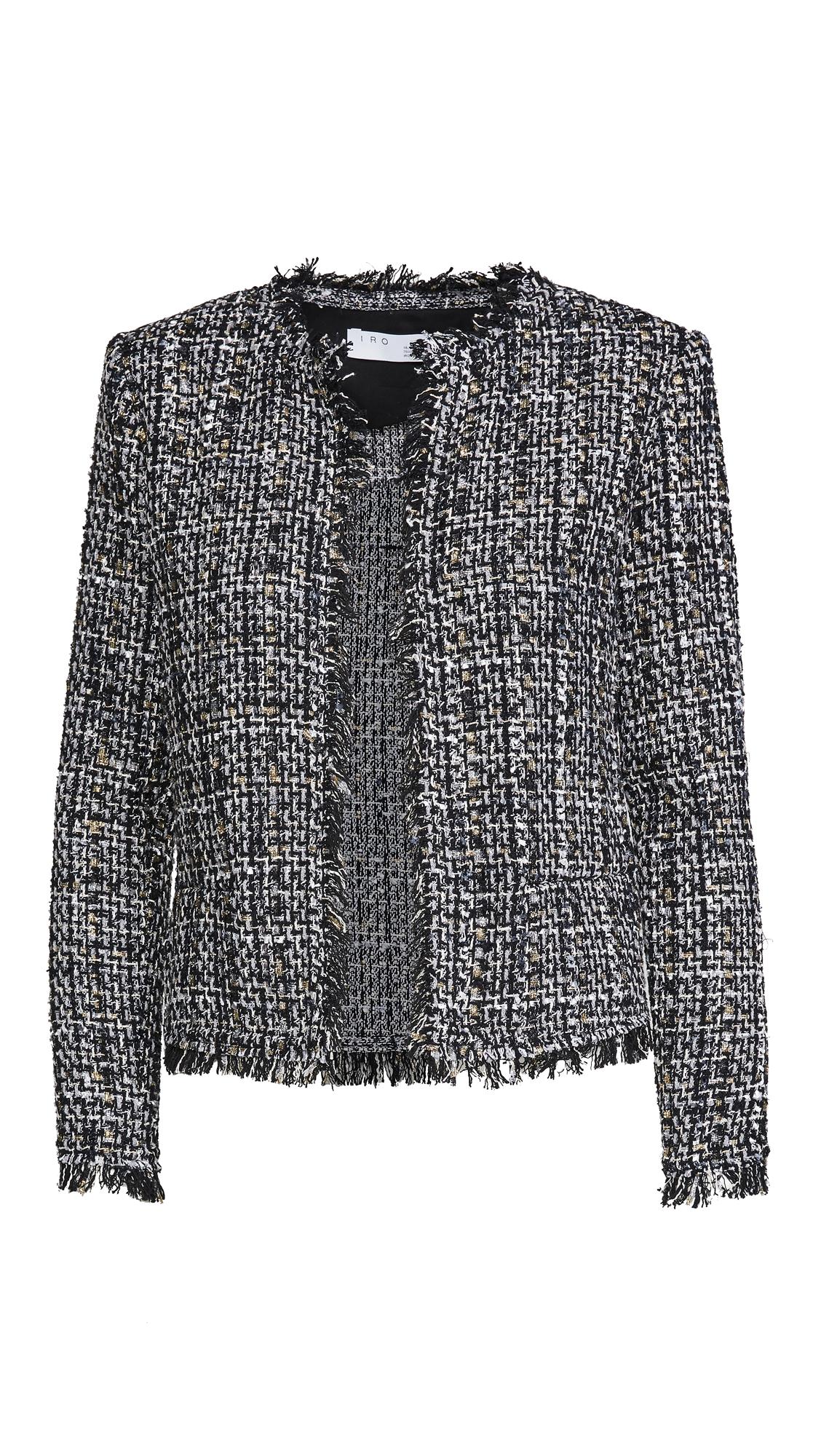 Iro Women's Shavani Metallic Tweed Jacket In Mixed Black