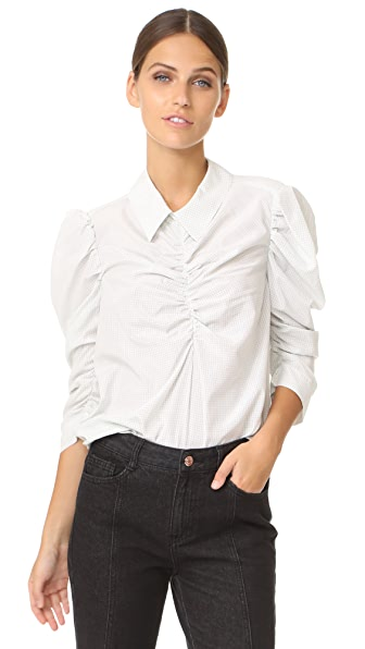 Isa Arfen Gathered Puff Sleeve Shirt - Notebook