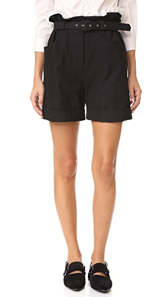 Isa Arfen Paper Bag Shorts - Black