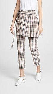 Isa Arfen Узкие брюки в стиле килта