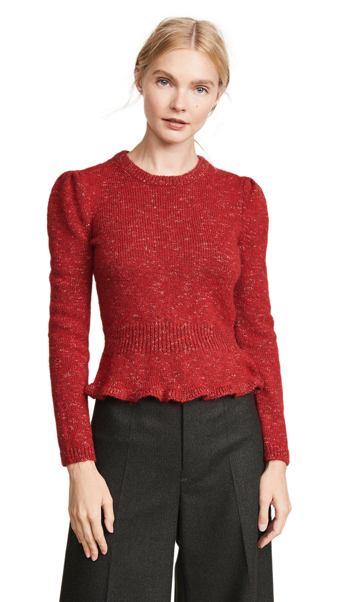 Isa Arfen Fitted Jumper In Red