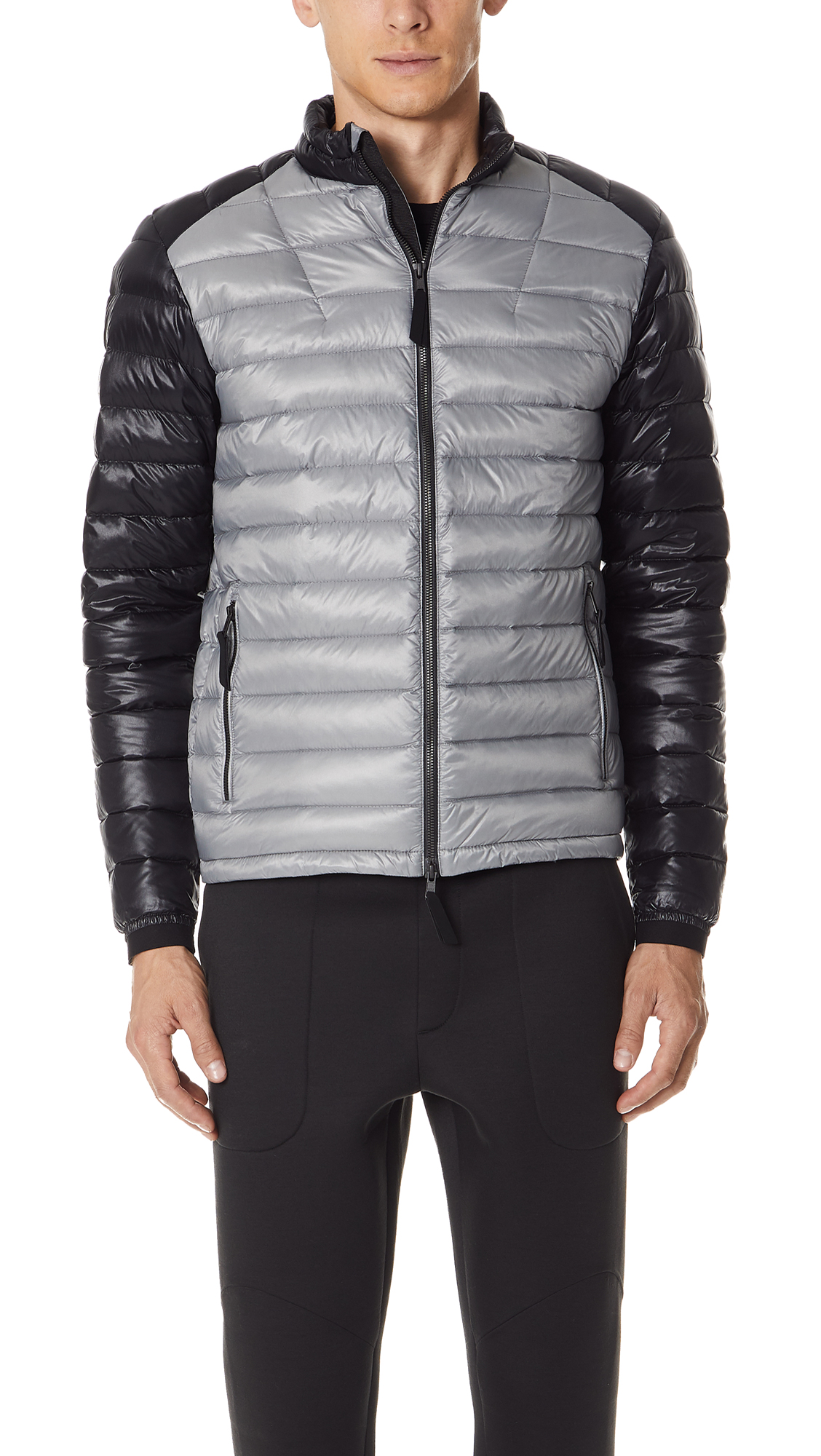 ISAORA Colorblocked Lightweight Down-Quilted Jacket