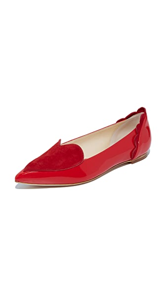 Isa Tapia Clement Flats - Lipstick Red