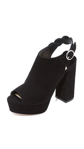 Isa Tapia Juno Platform Sandals - Black