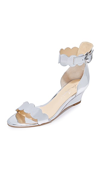 Isa Tapia Basia Wedge Sandals - Silver