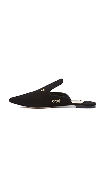 Isa Tapia Frankie Embroidered Mules