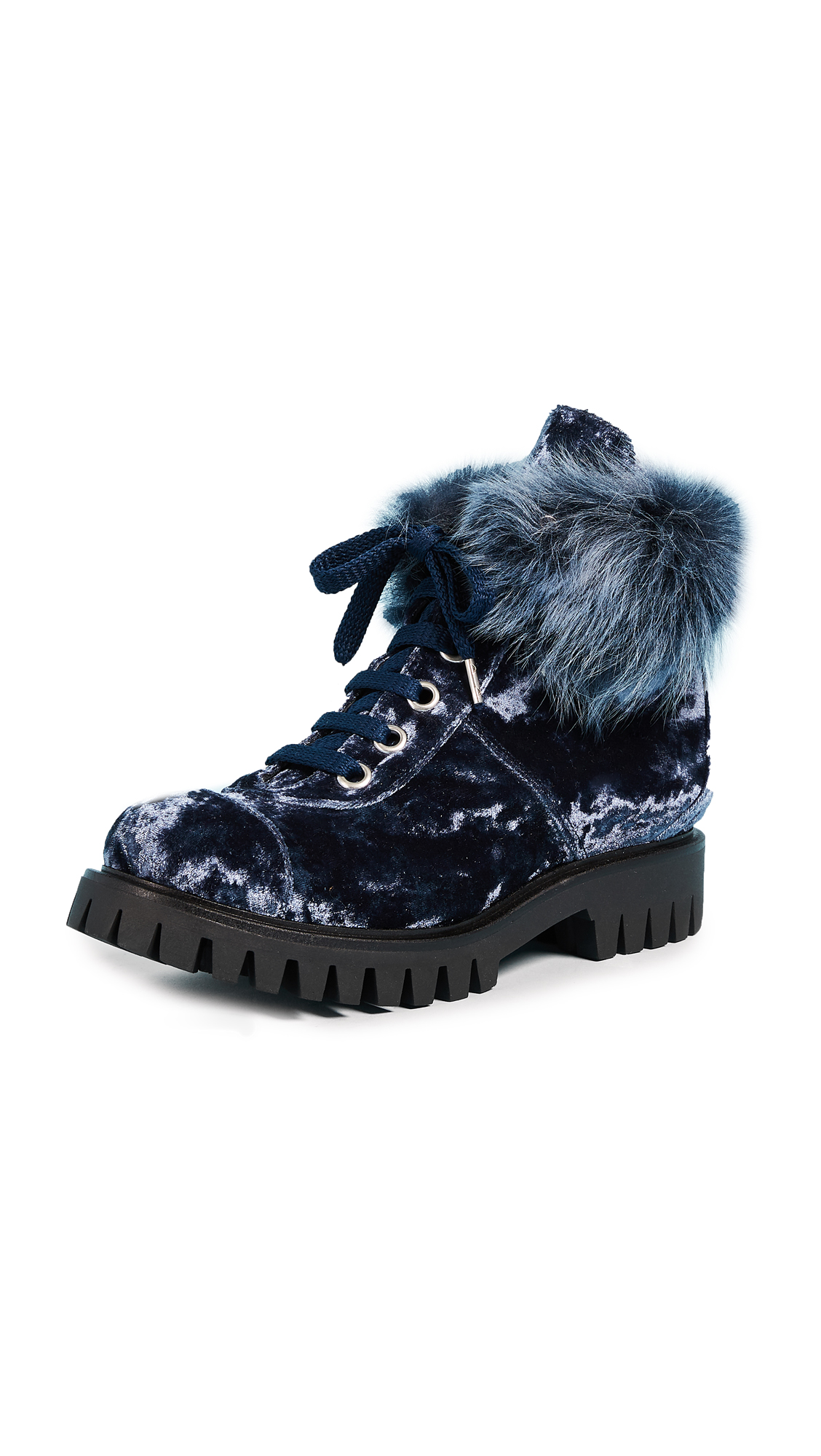 Isa Tapia Ras Combat Boots - Navy