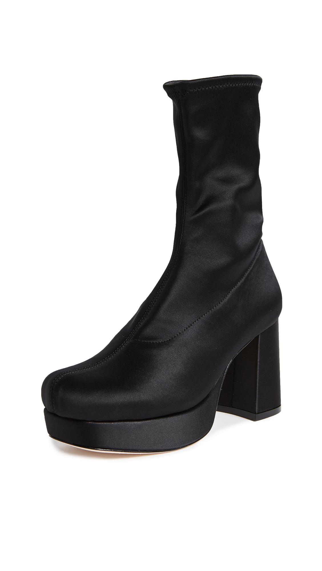 Isa Tapia Brooke Platform Boots - Black