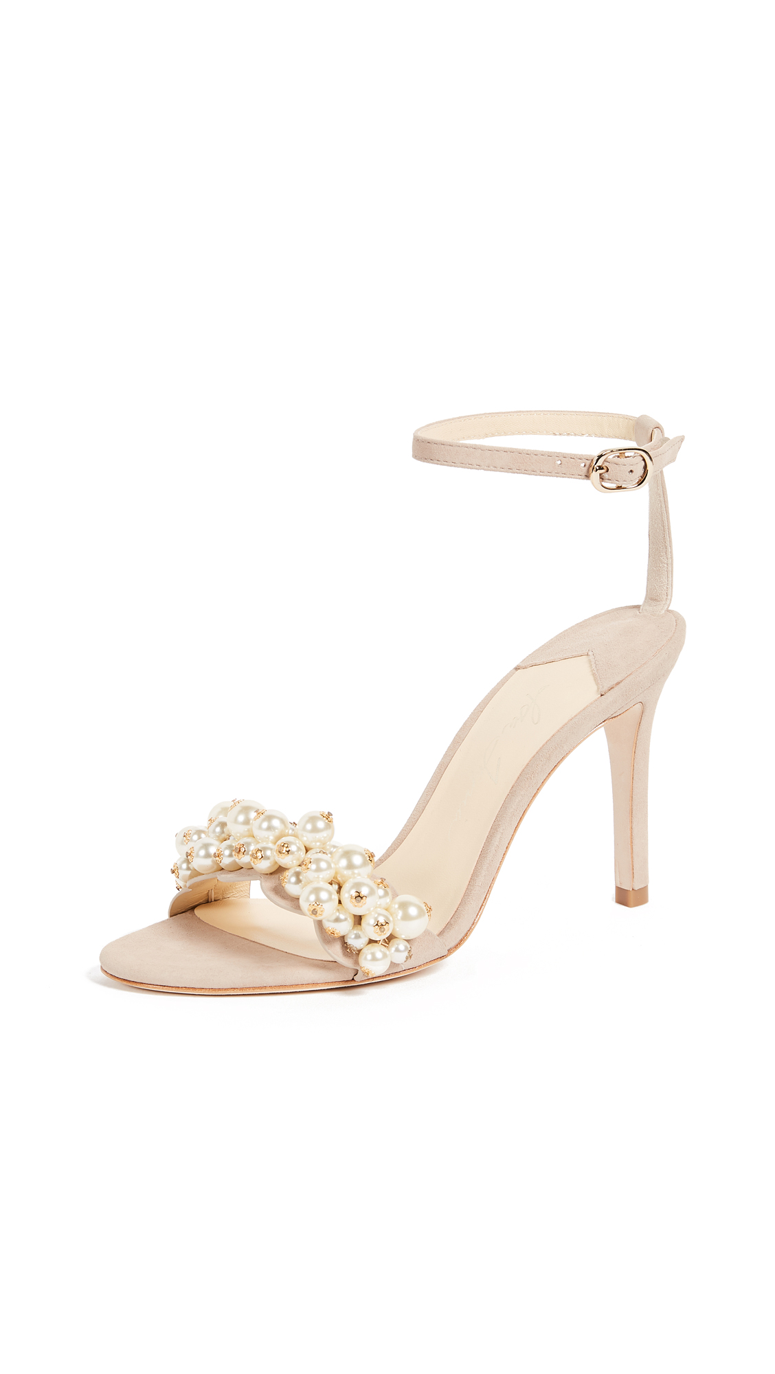 Isa Tapia Eliana Ankle Strap Pumps - Sand