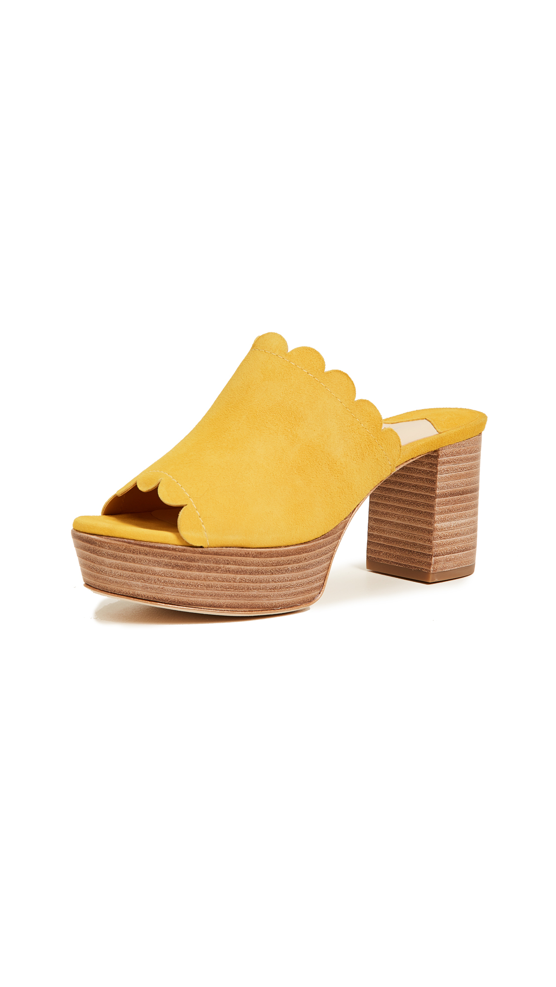 Isa Tapia Palmas Platform Sandals - Canary Yellow