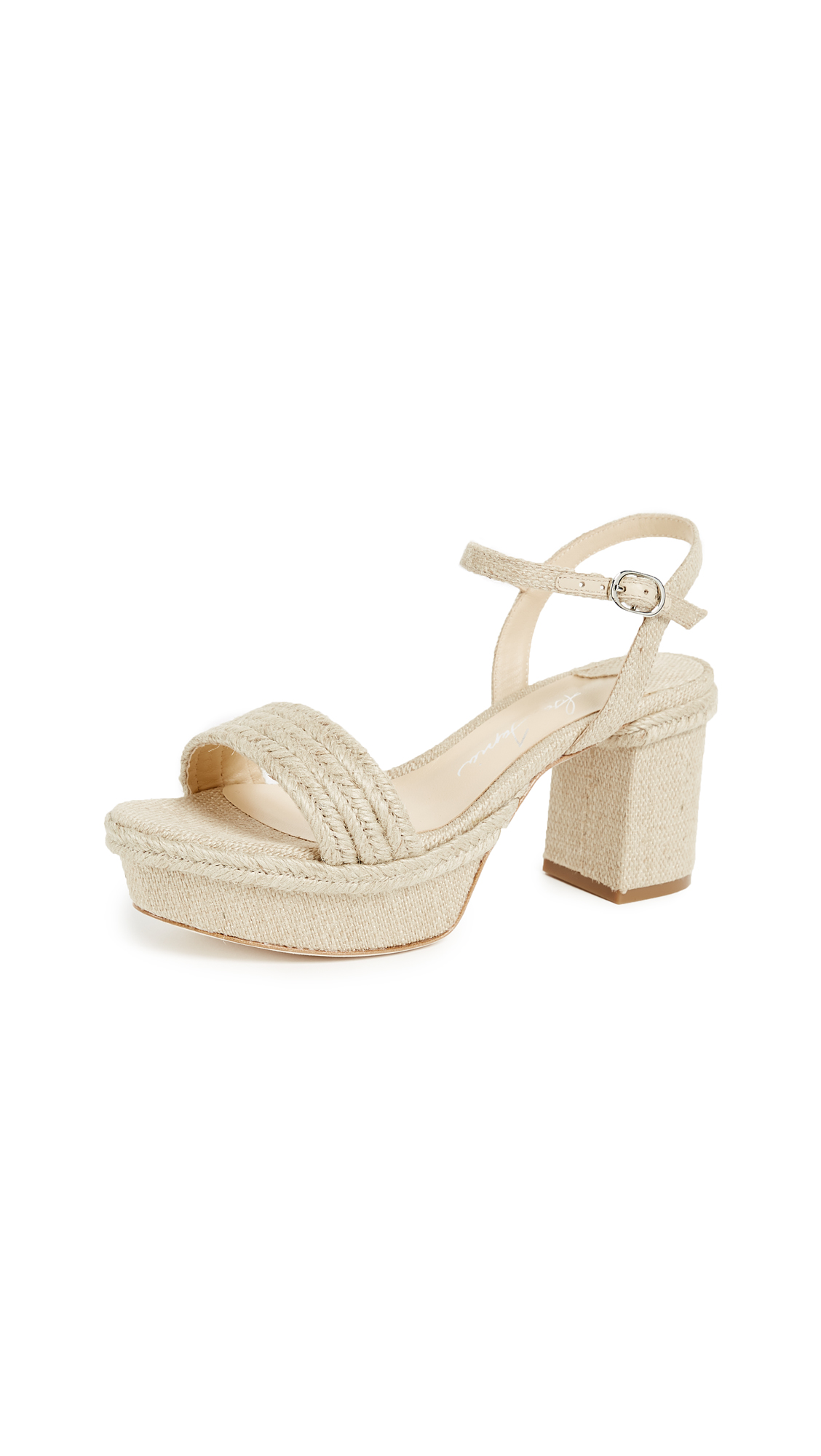 Isa Tapia Playa Platform Sandals - Natural