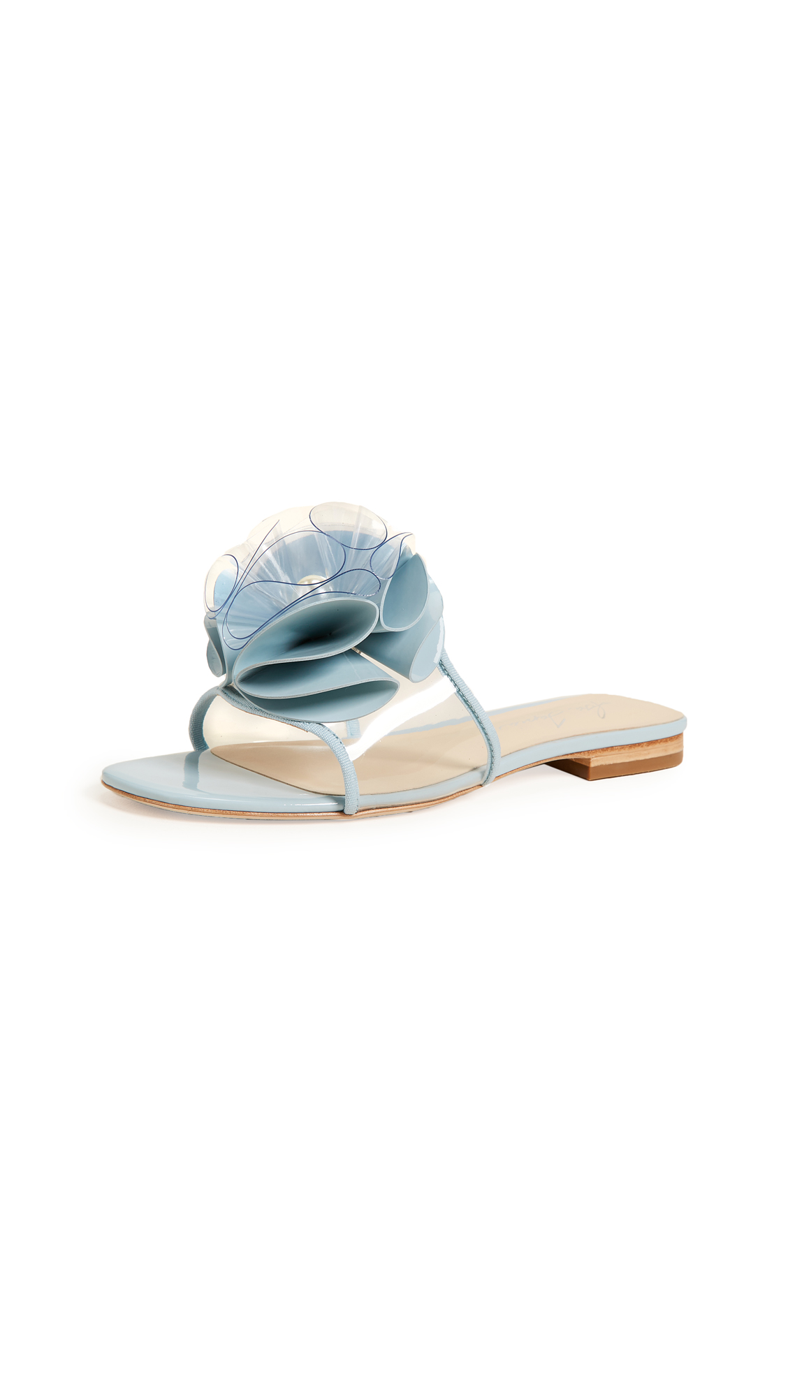Isa Tapia Novak Pearl Slides - Palace Blue
