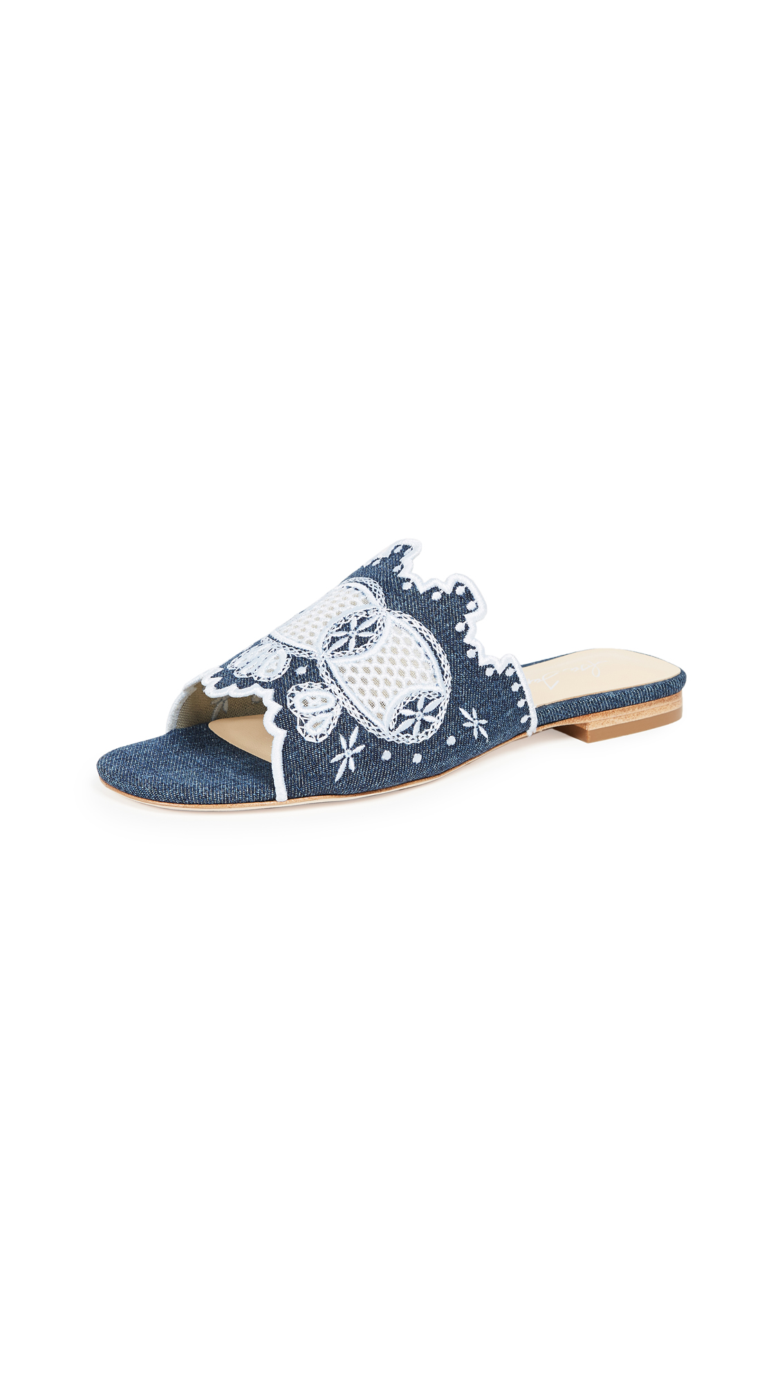 Isa Tapia Nile Slides - Denim