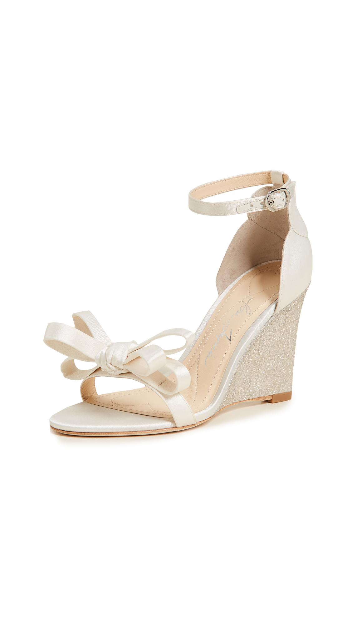 Isa Tapia Ella Wedge Sandals - Ivory/Champagne