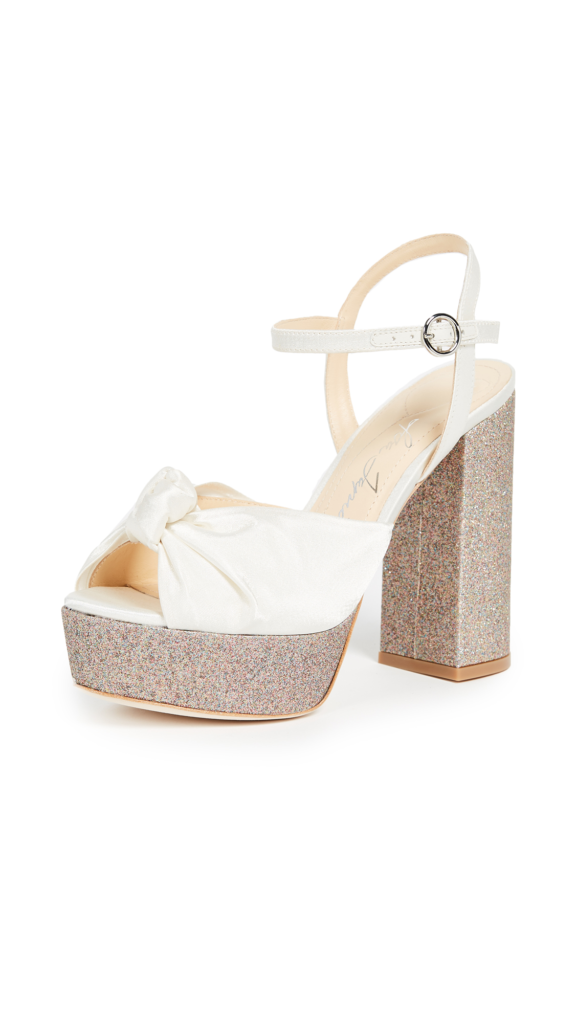 Isa Tapia Cheer Platform Sandals - Ivory