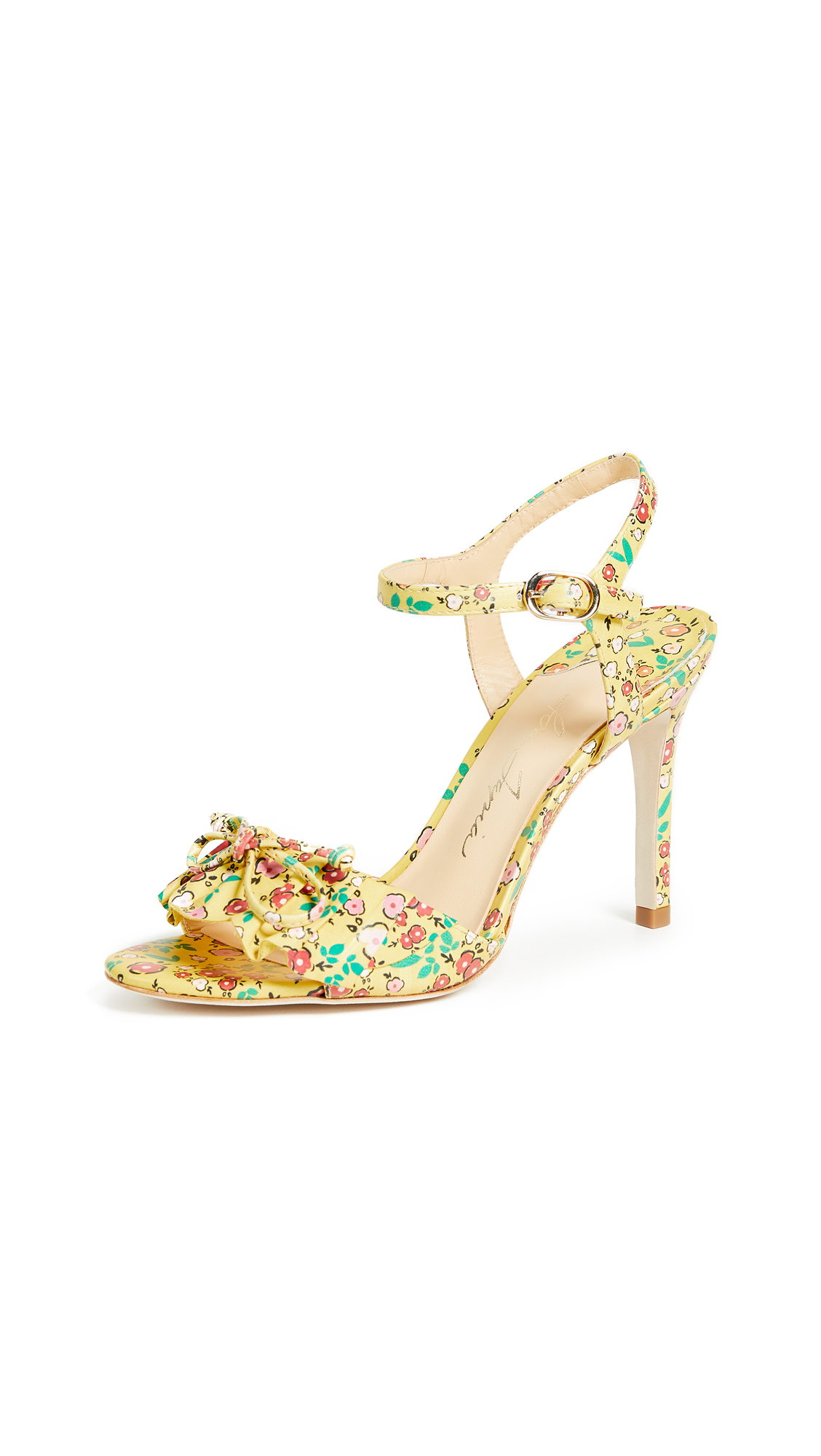 Isa Tapia Evie Sandals - Canary Yellow Floral Print