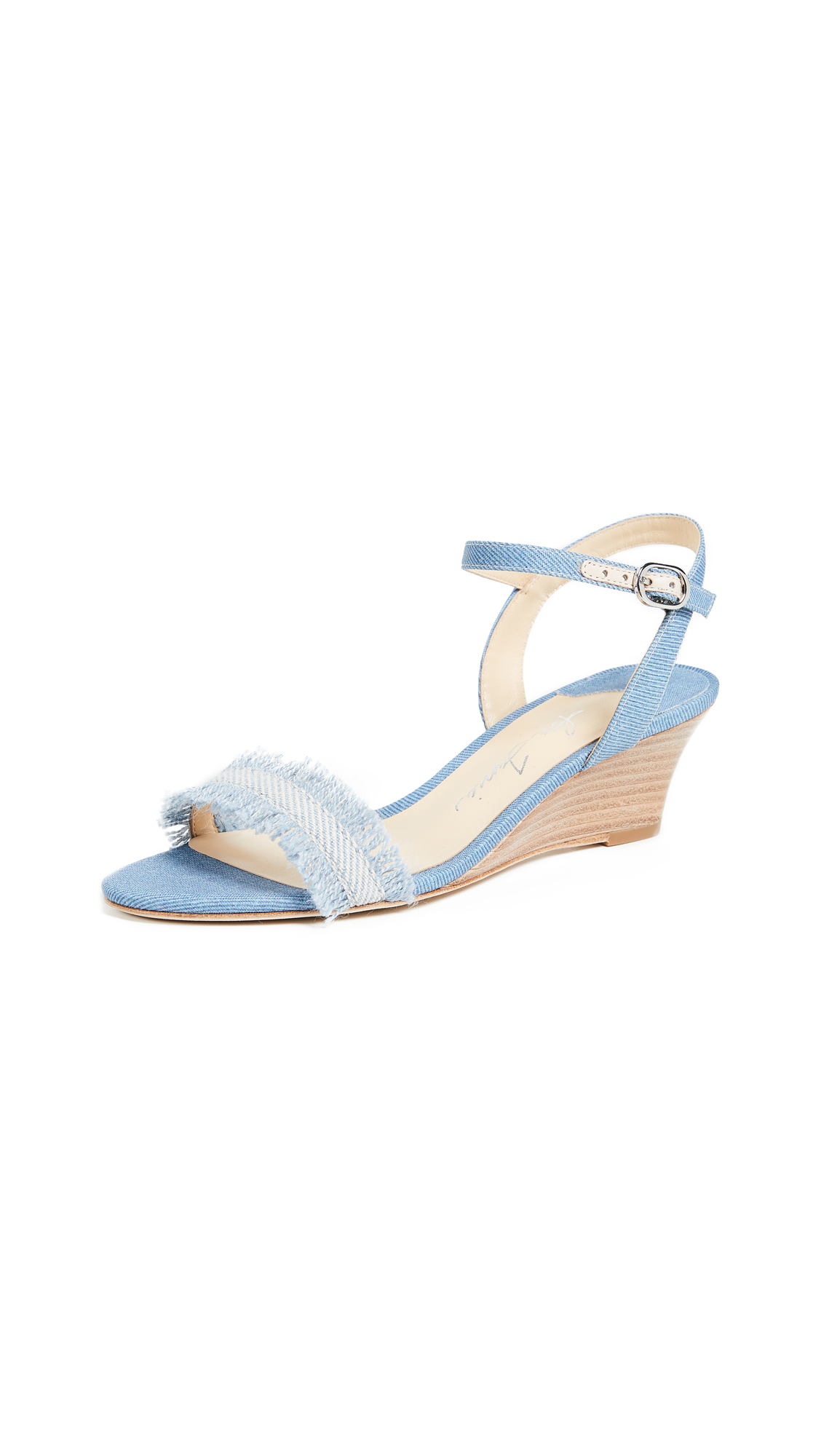 Isa Tapia Fabiola Wedge Sandals - Denim