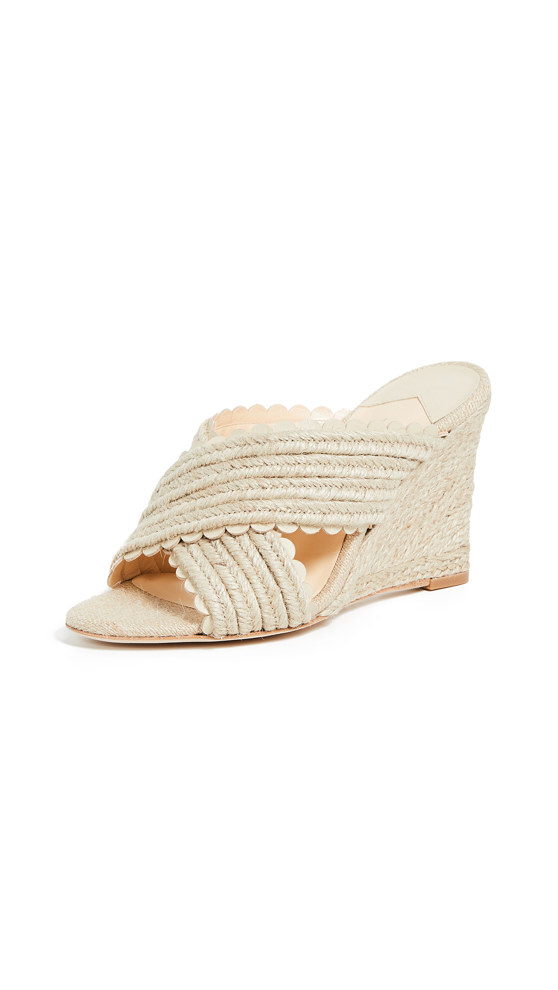Isa Tapia Erle Wedge Espadrilles - Natural