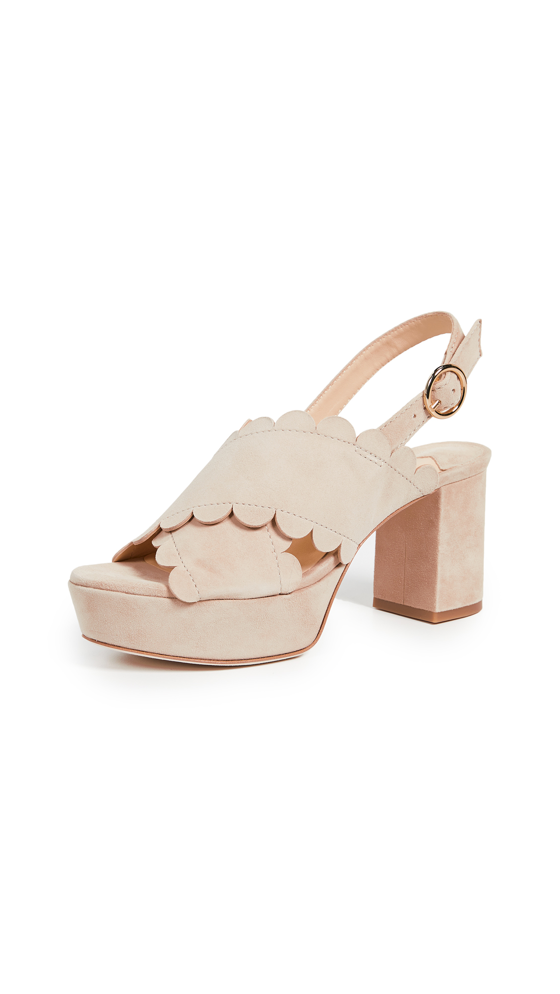 ISA TAPIA Perry Platform Sandals in Summer Sand