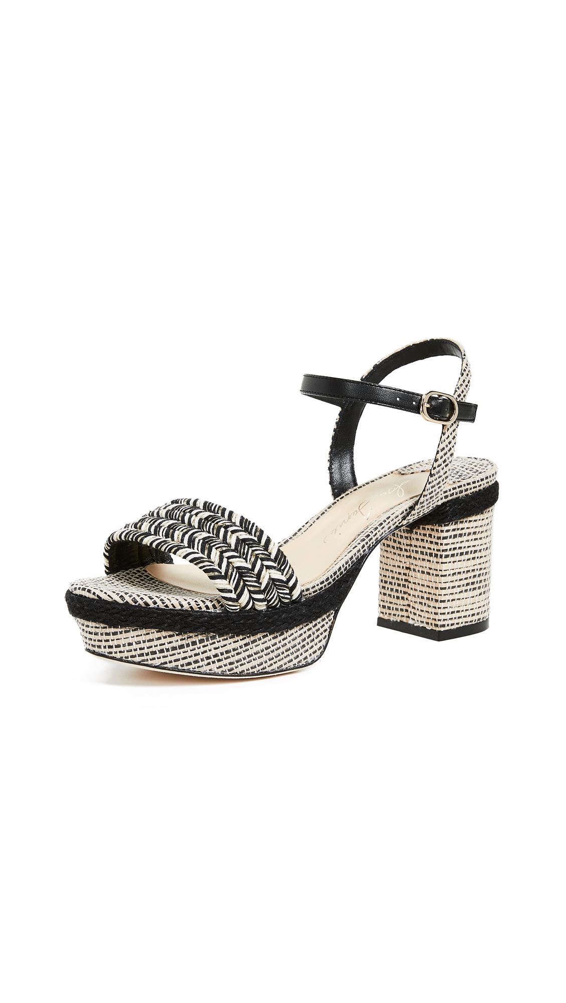 Isa Tapia Prado Platform Sandals - Black Multi
