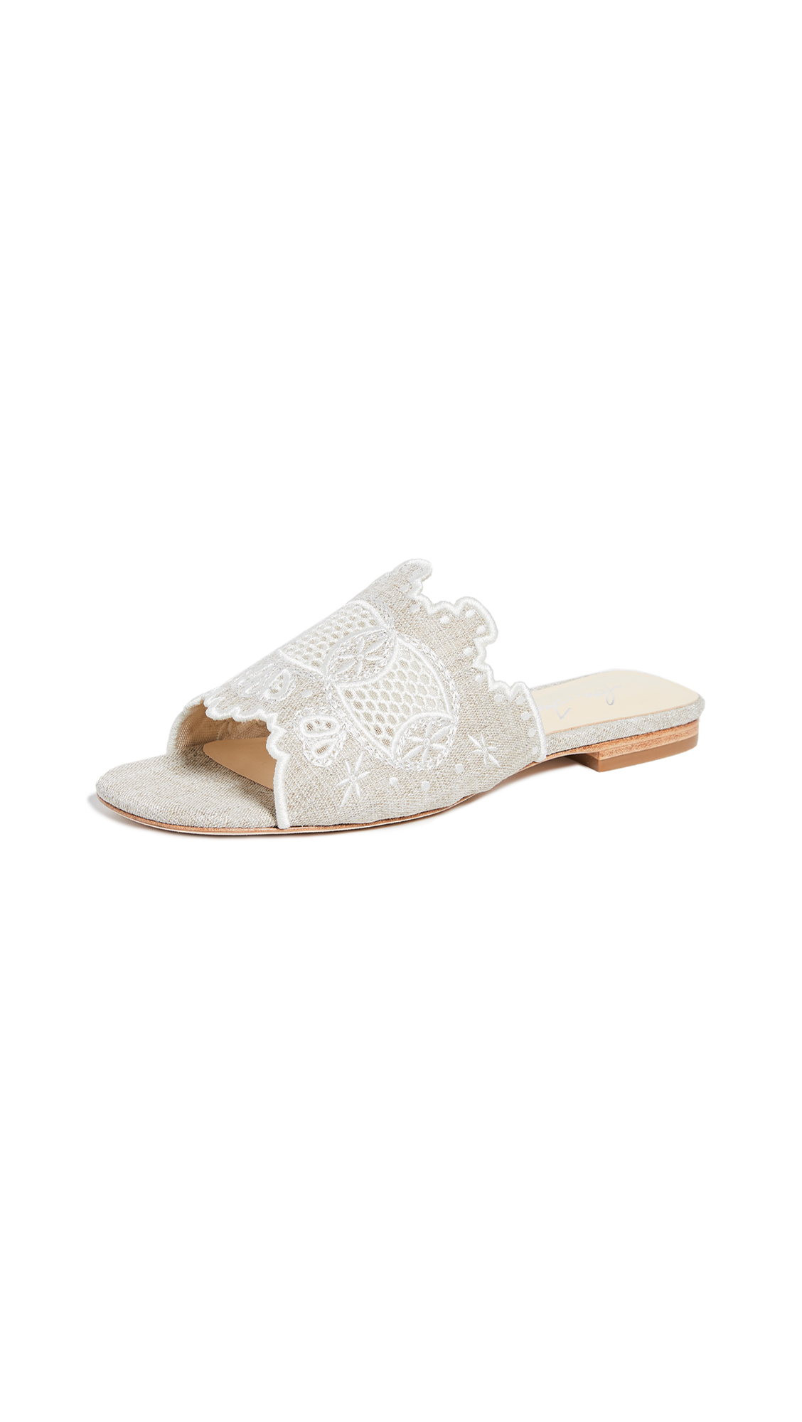 Isa Tapia Nile Flat Slides - Natural
