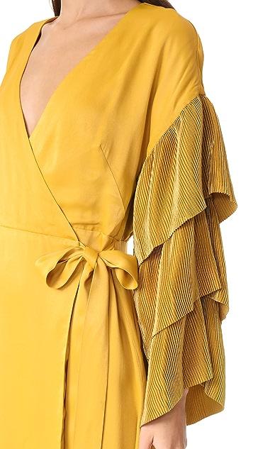 ISLA Open Up Wrap Mini Dress