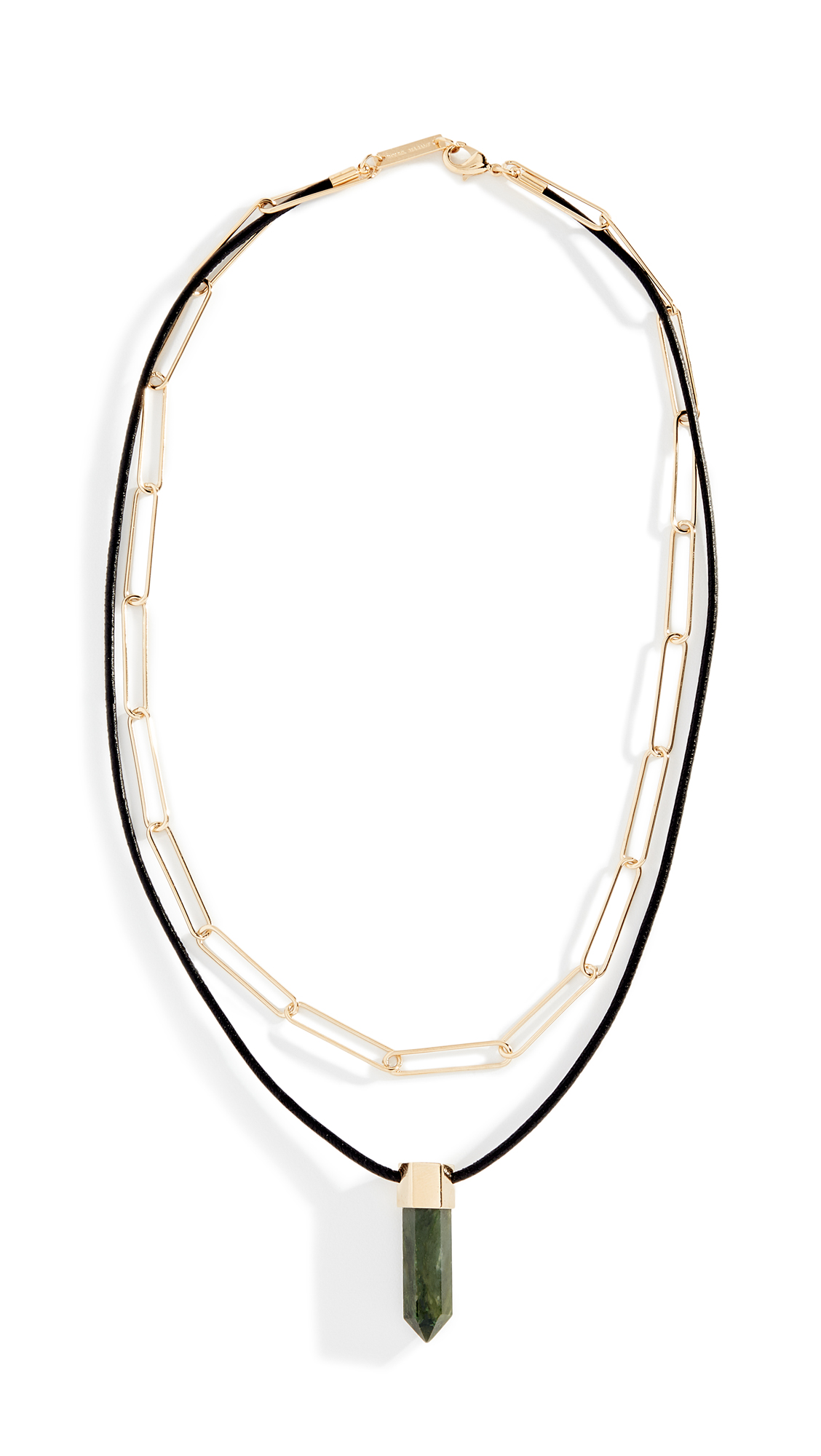 Isabel Marant Collier Crystal Necklace - Green