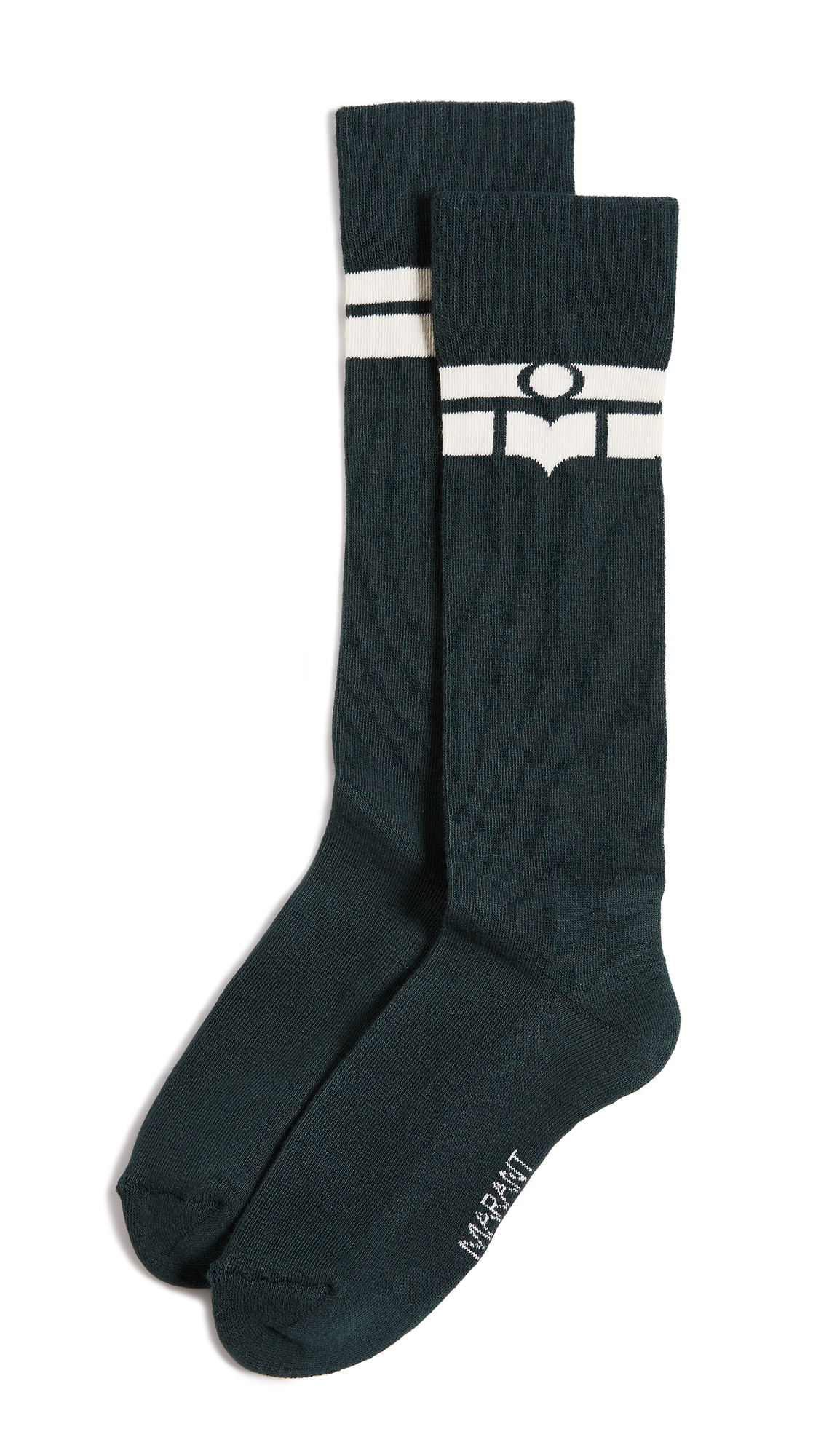 Isabel Marant Vibe Marant's Socks In Dark Green