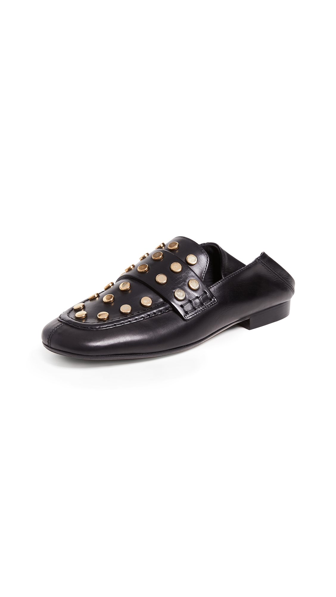 Isabel Marant Feenie Convertible Loafers - Black/Dore