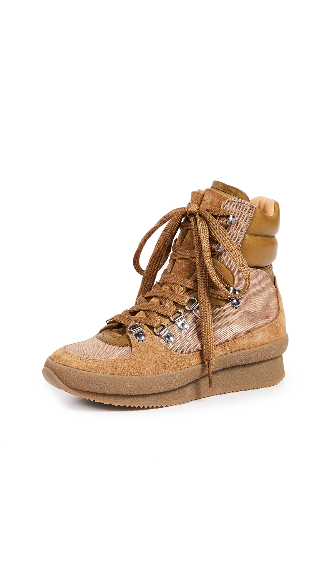 Isabel Marant Brendty Suede Hiking Boots - Khaki