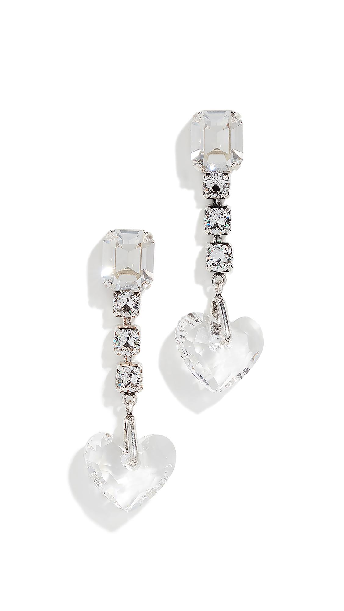 Isabel Marant Boucle Oreille True Love Earrings In Silver