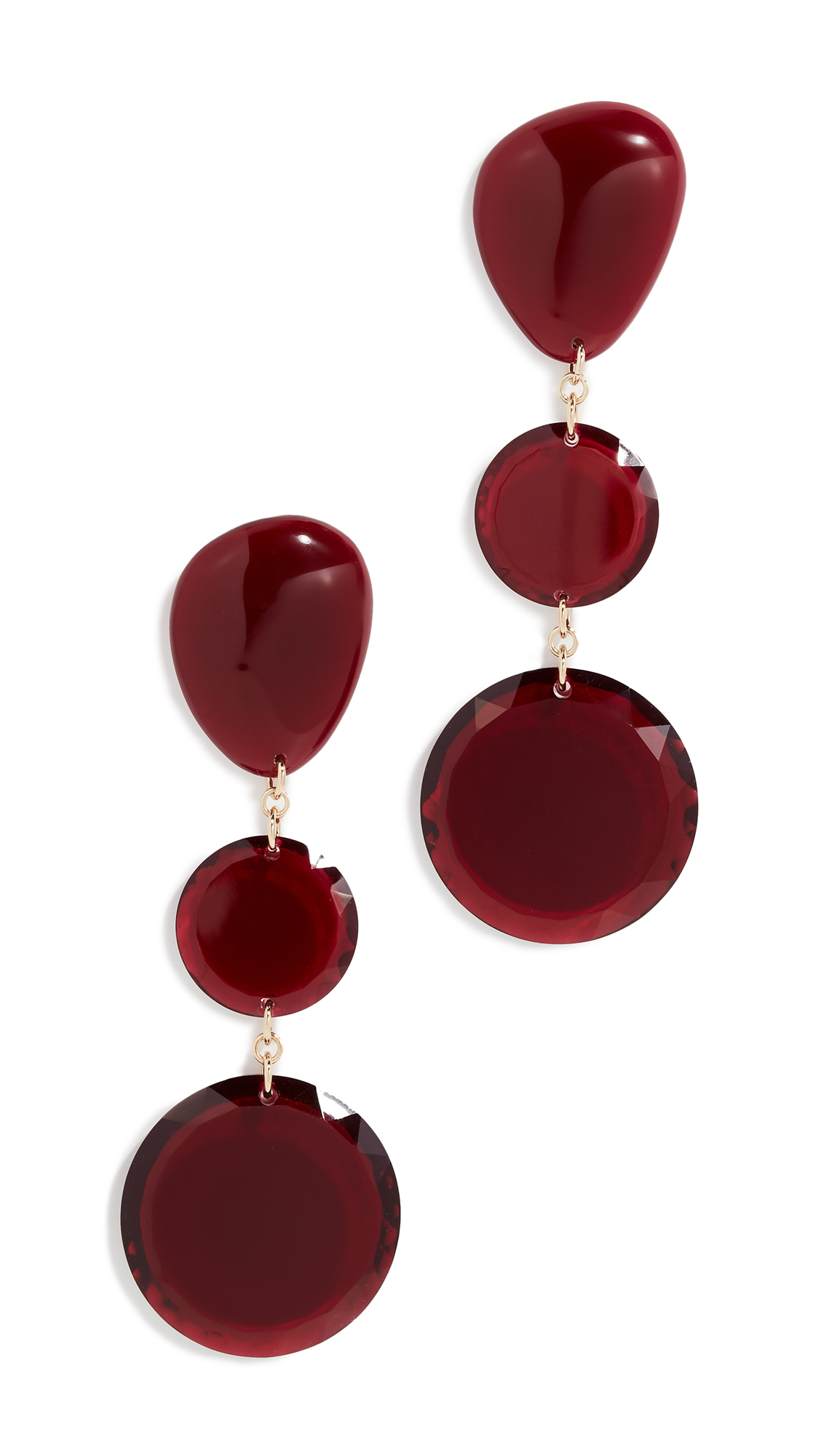 Isabel Marant Boucle Oreille Triple Drop Earrings In Red