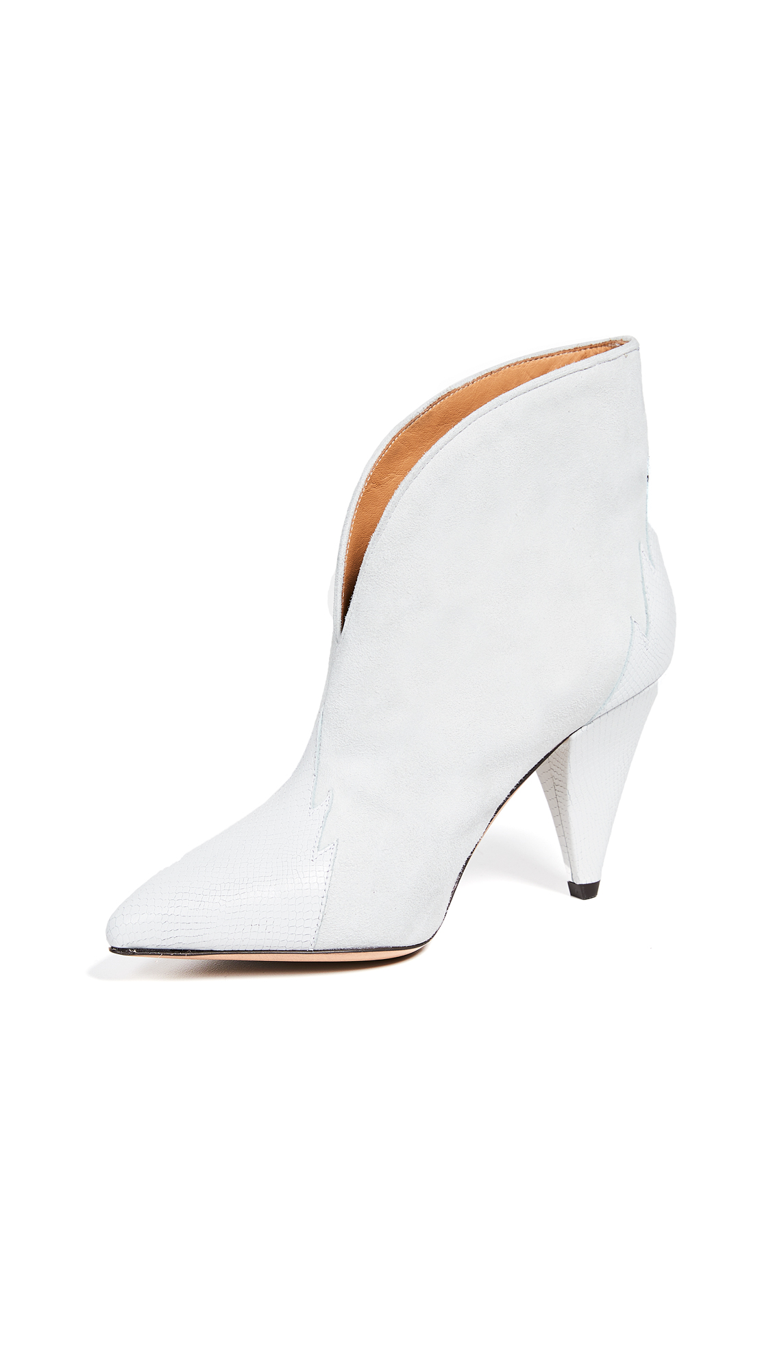 Isabel Marant Archee Suede Booties - White